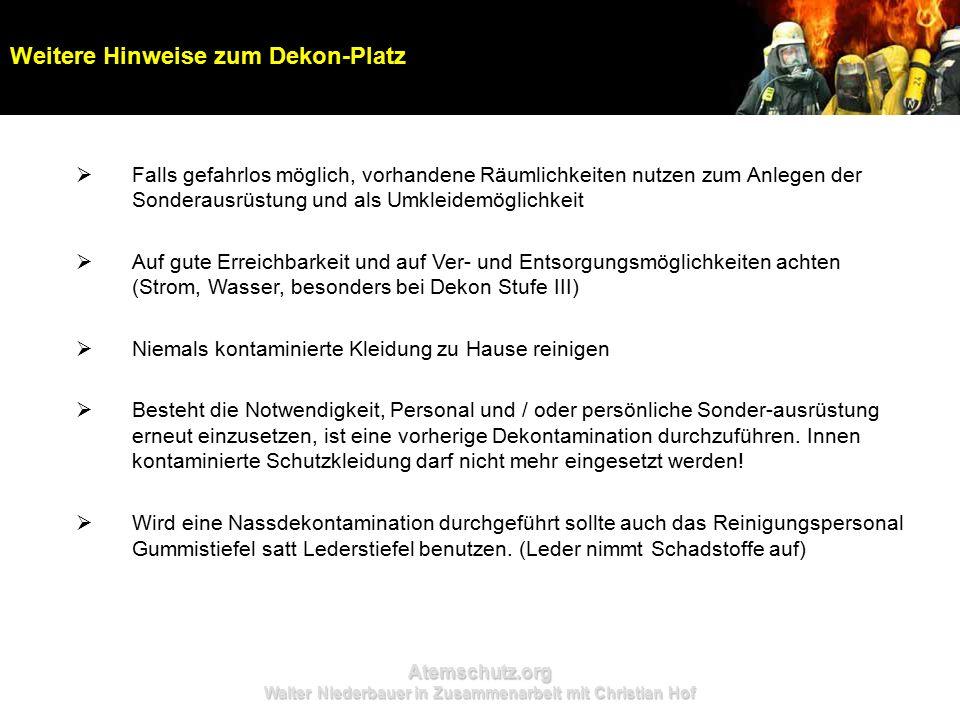 Atemschutz.org Walter Niederbauer in Zusammenarbeit mit Christian Hof  Falls gefahrlos möglich, vorhandene Räumlichkeiten nutzen zum Anlegen der Sond