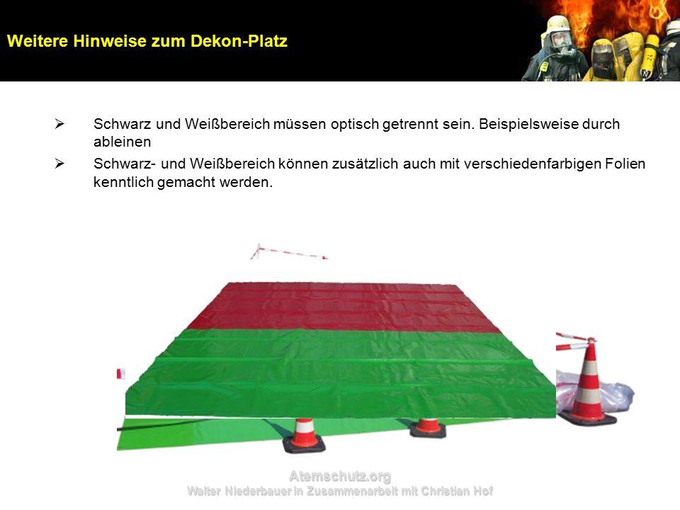 Atemschutz.org Walter Niederbauer in Zusammenarbeit mit Christian Hof  Schwarz und Weißbereich müssen optisch getrennt sein. Beispielsweise durch abl