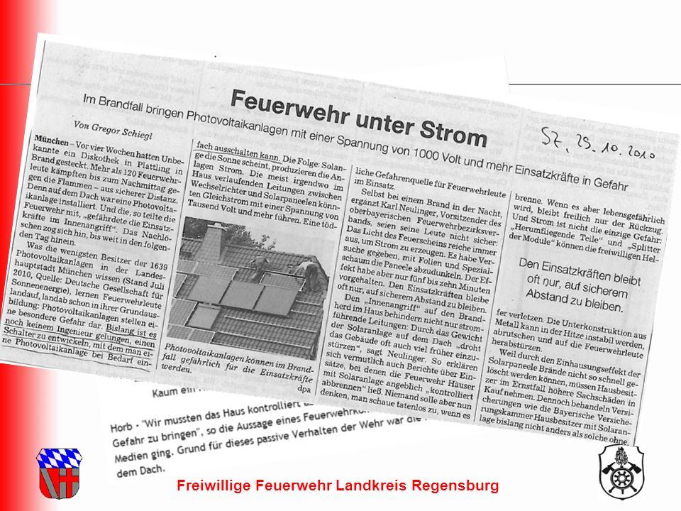 Freiwillige Feuerwehr Landkreis Regensburg Presse