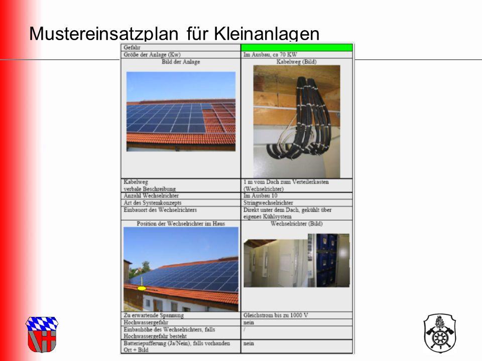 Freiwillige Feuerwehr Landkreis Regensburg Mustereinsatzplan für Kleinanlagen