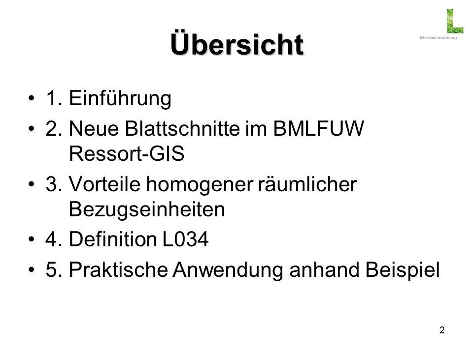 2 Übersicht 1. Einführung 2. Neue Blattschnitte im BMLFUW Ressort-GIS 3.