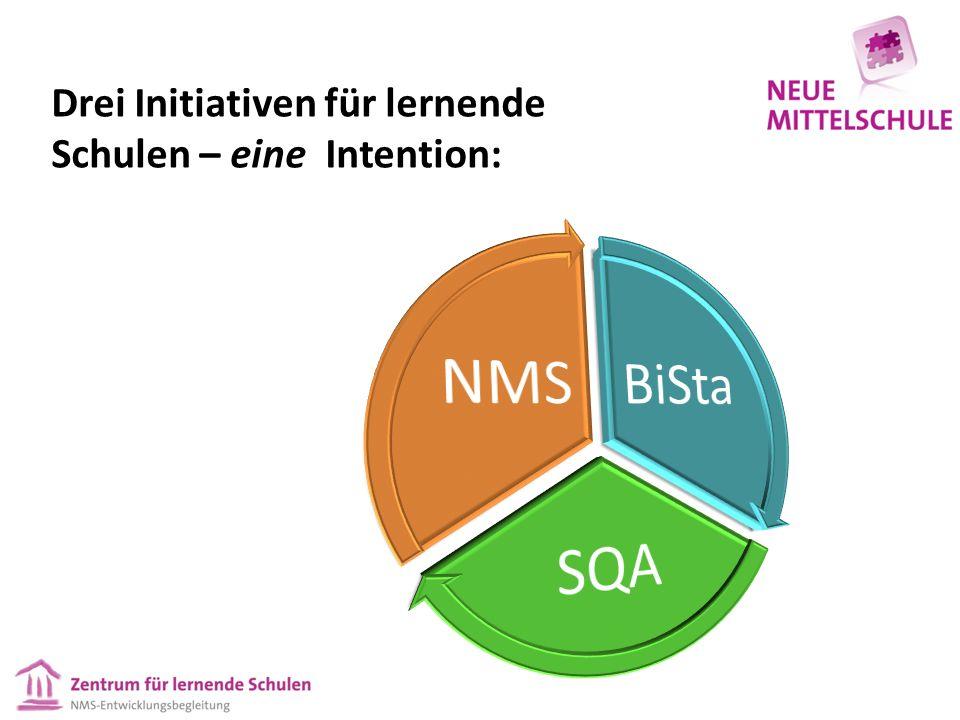 Drei Initiativen für lernende Schulen – eine Intention: