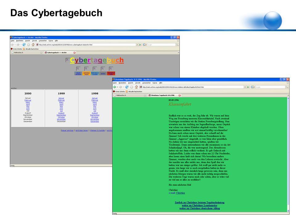 Das Cybertagebuch