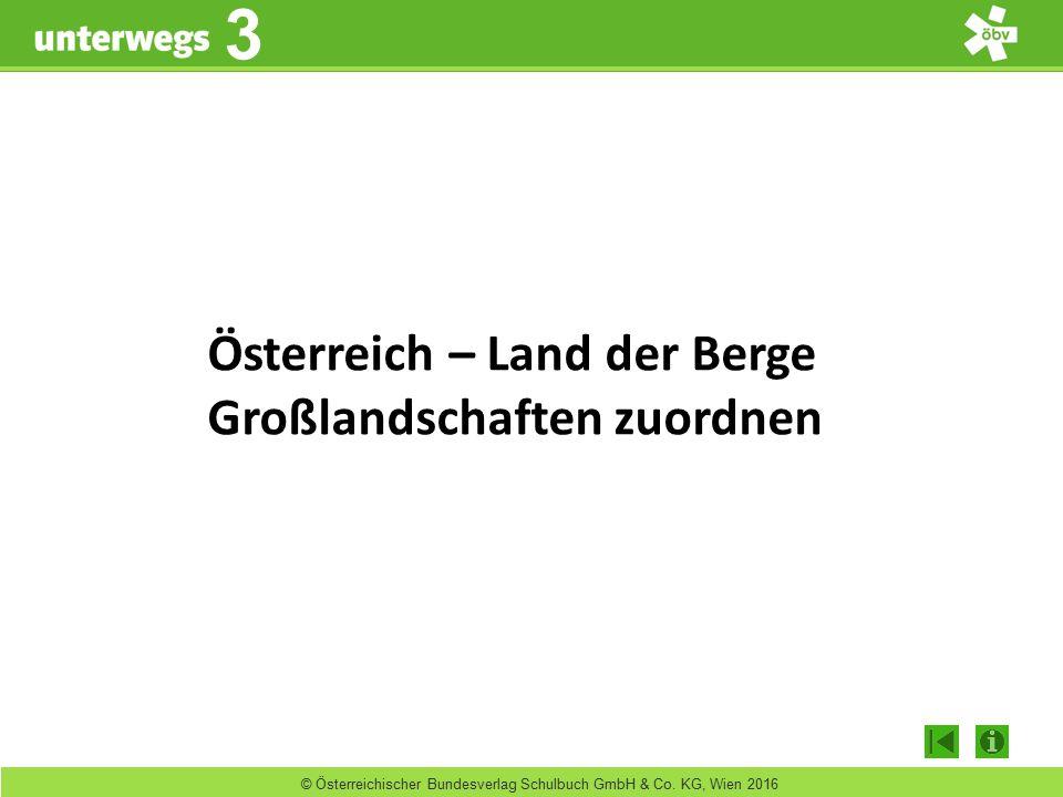 unterwegs 3 3 © Österreichischer Bundesverlag Schulbuch GmbH & Co. KG, Wien 2016 Österreich – Land der Berge Großlandschaften zuordnen