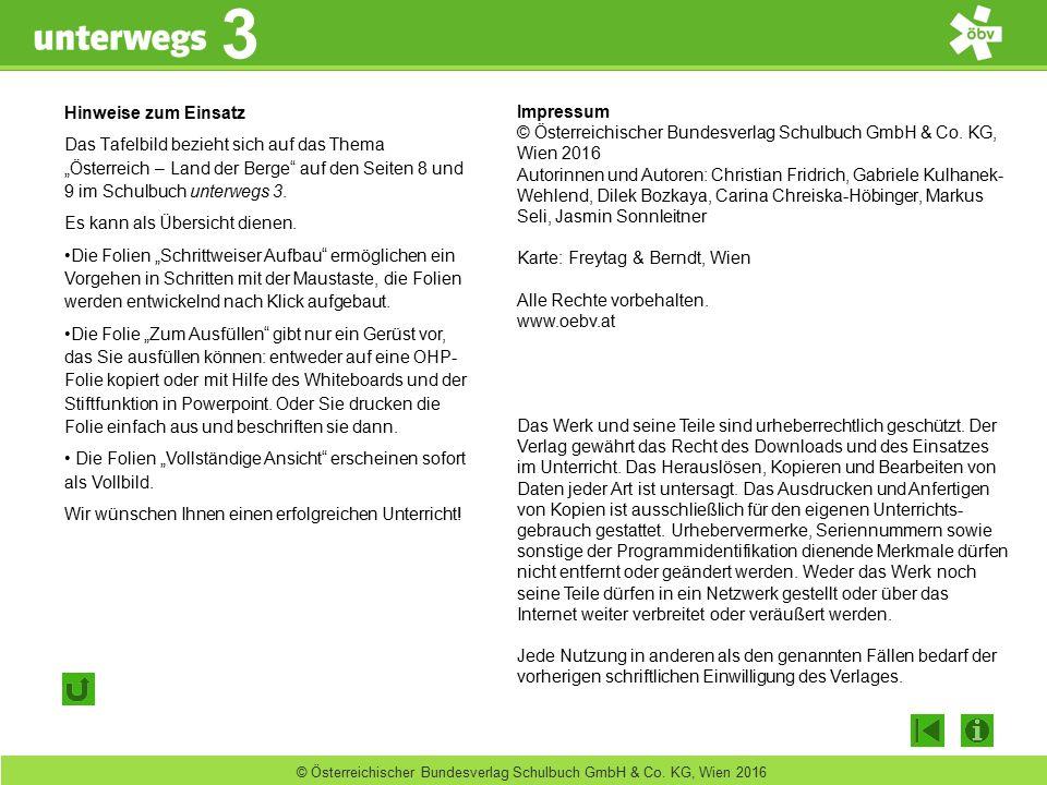 unterwegs 3 3 © Österreichischer Bundesverlag Schulbuch GmbH & Co. KG, Wien 2016 Impressum © Österreichischer Bundesverlag Schulbuch GmbH & Co. KG, Wi