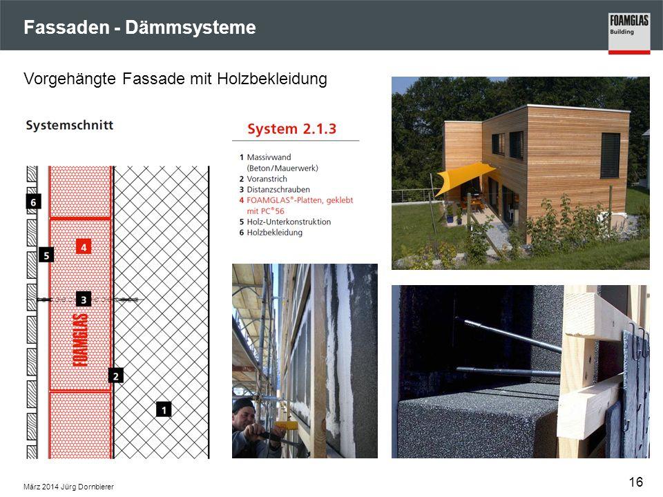 Fassaden - Dämmsysteme März 2014 Jürg Dornbierer 16 Vorgehängte Fassade mit Holzbekleidung