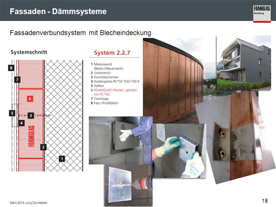 Fassaden - Dämmsysteme März 2014 Jürg Dornbierer 18 Fassadenverbundsystem mit Blecheindeckung