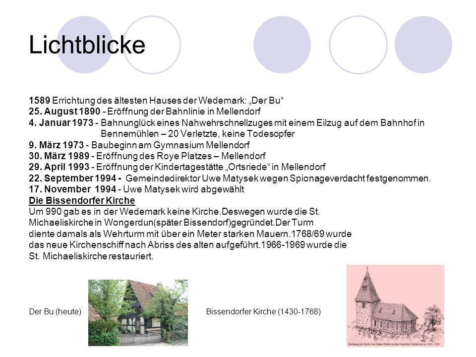 """Lichtblicke 1589 Errichtung des ältesten Hauses der Wedemark: """"Der Bu 25."""