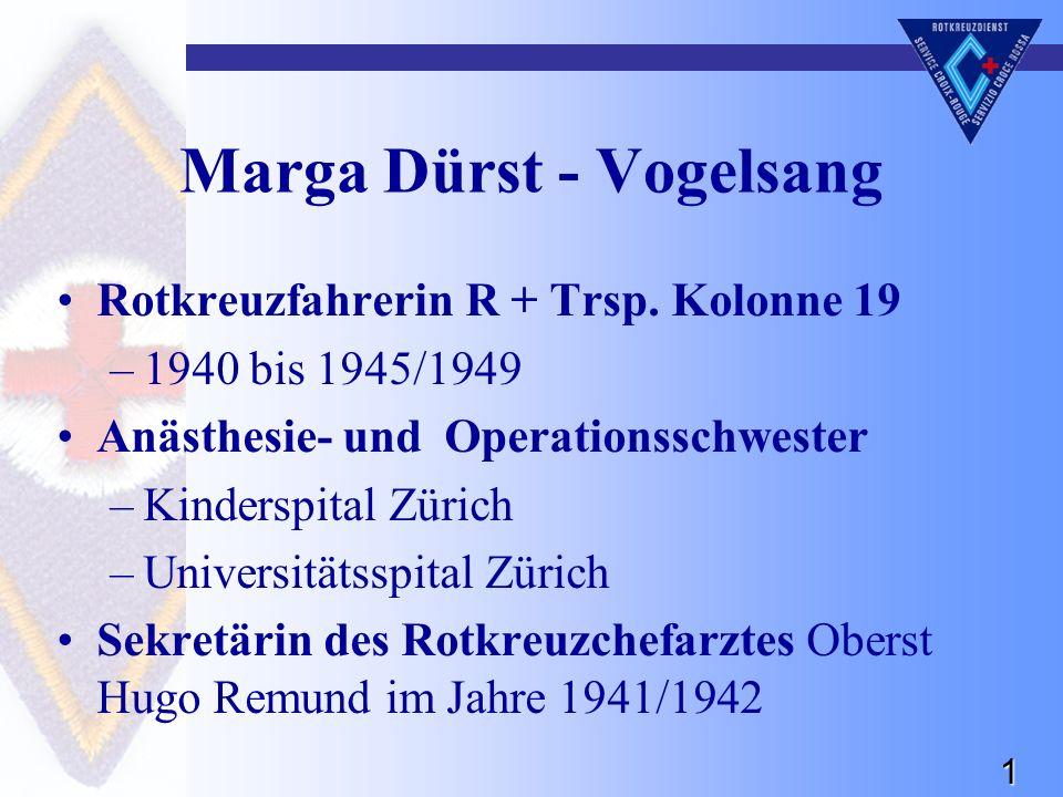 1 Marga Dürst - Vogelsang Rotkreuzfahrerin R + Trsp.