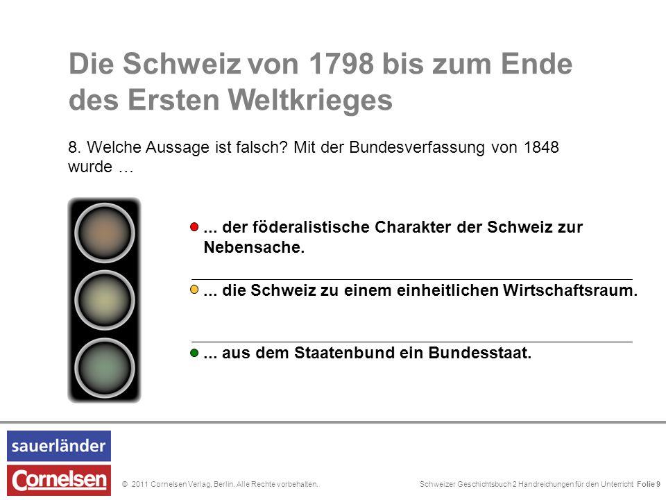 Schweizer Geschichtsbuch 2 Handreichungen für den Unterricht Folie 0© 2011 Cornelsen Verlag, Berlin.