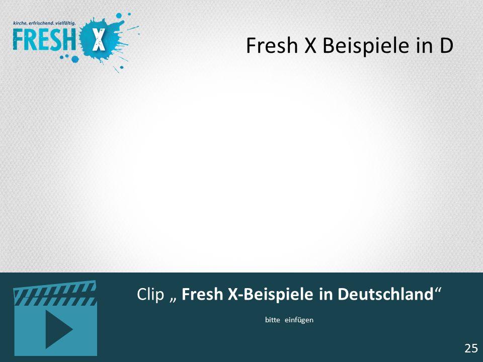 """25 Clip """" Fresh X-Beispiele in Deutschland"""" bitte einfügen 25 Fresh X Beispiele in D"""