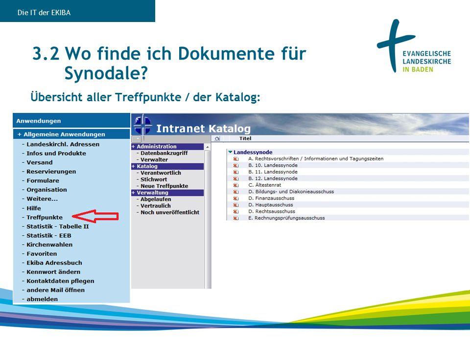 Übersicht aller Treffpunkte / der Katalog: 3.2 Wo finde ich Dokumente für Synodale.