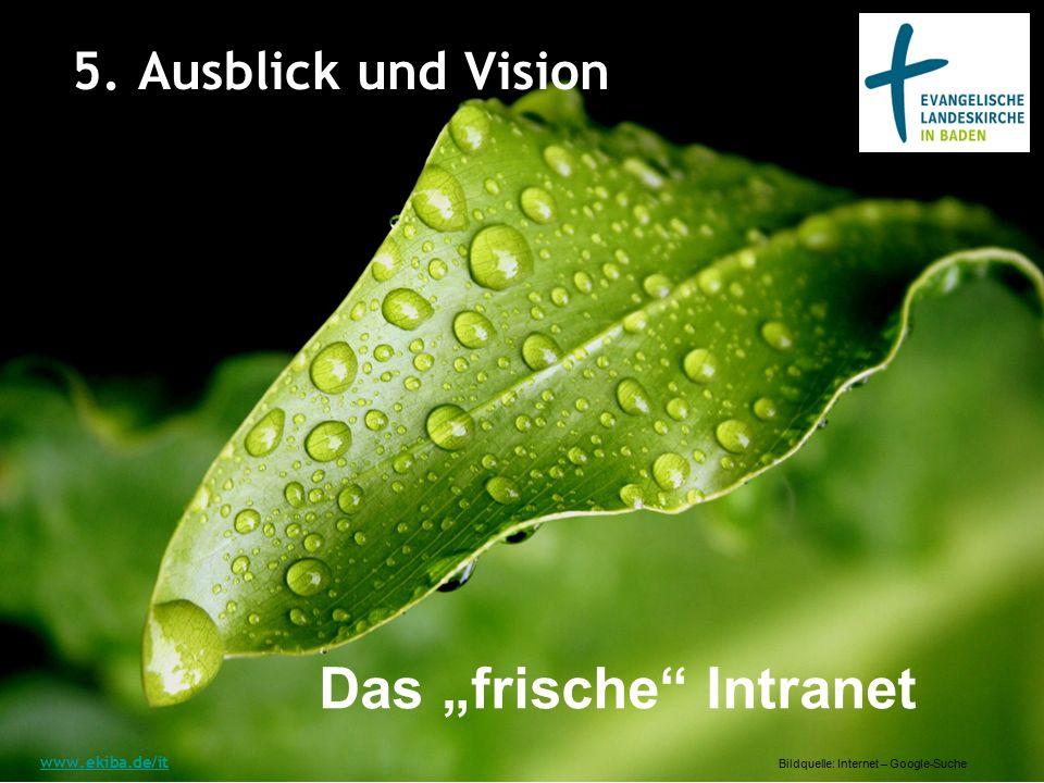"""5. Ausblick und Vision www.ekiba.de/it Das """"frische Intranet Bildquelle: Internet – Google-Suche"""