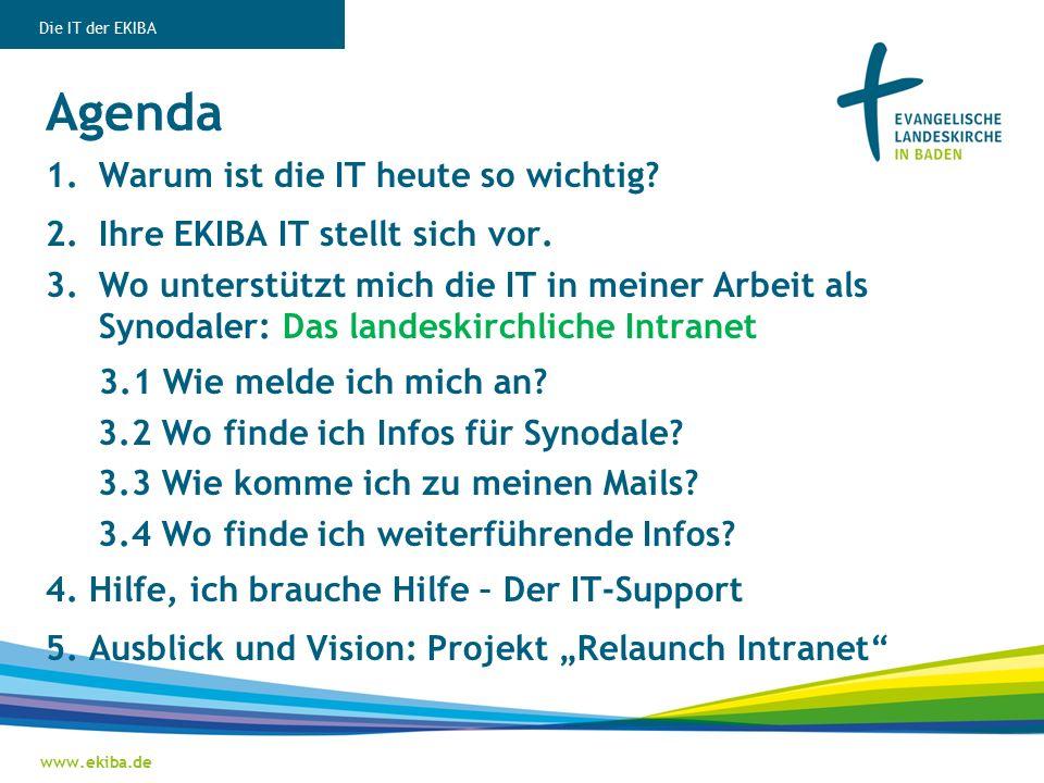 Agenda 1.Warum ist die IT heute so wichtig. 2.Ihre EKIBA IT stellt sich vor.