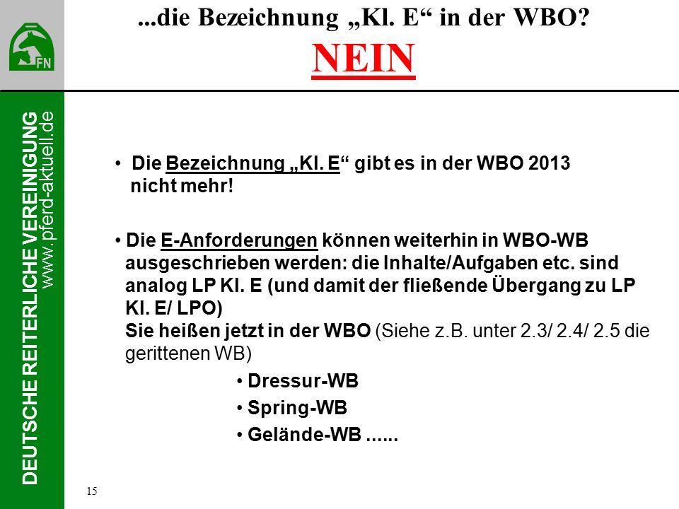 """www.pferd-aktuell.de DEUTSCHE REITERLICHE VEREINIGUNG...die Bezeichnung """"Kl."""