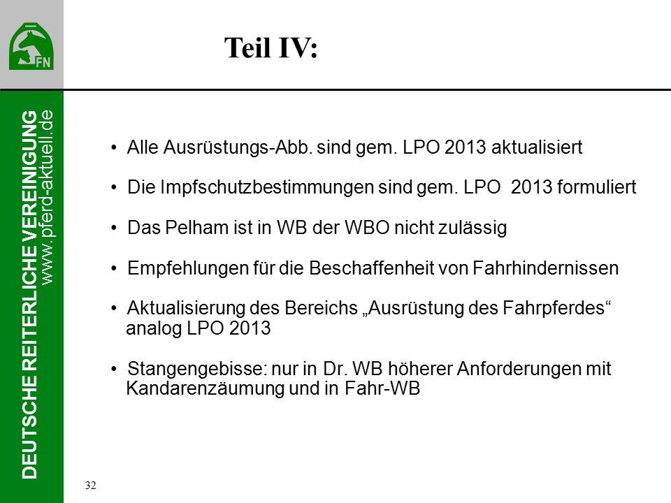 www.pferd-aktuell.de DEUTSCHE REITERLICHE VEREINIGUNG Alle Ausrüstungs-Abb.