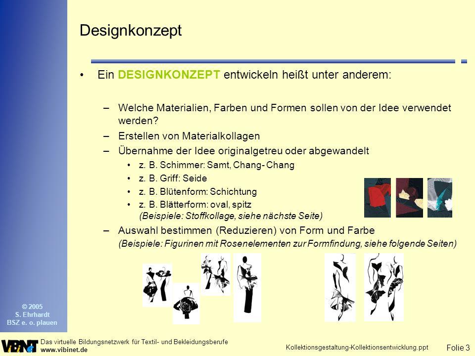 Folie 4 Das virtuelle Bildungsnetzwerk für Textil- und Bekleidungsberufe www.vibinet.de © 2005 S.