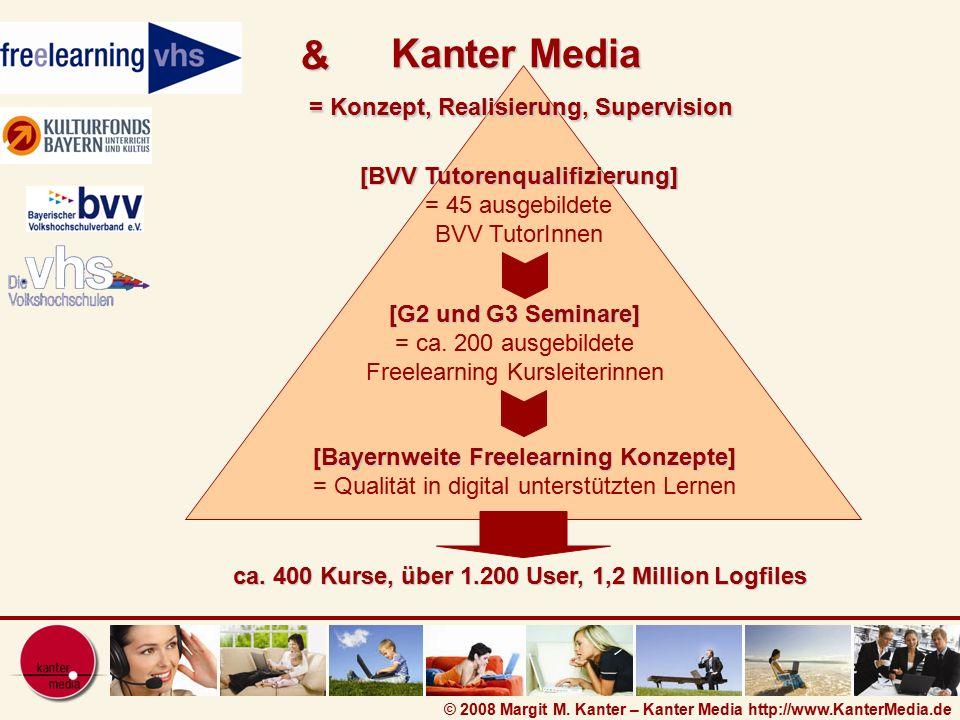 © 2008 Margit M. Kanter – Kanter Media http://www.KanterMedia.de [BVV Tutorenqualifizierung] [BVV Tutorenqualifizierung] = 45 ausgebildete BVV TutorIn