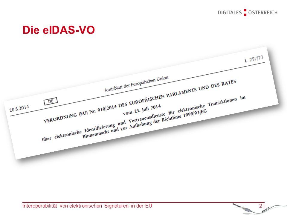 Die eIDAS-VO Interoperabilität von elektronischen Signaturen in der EU2 |