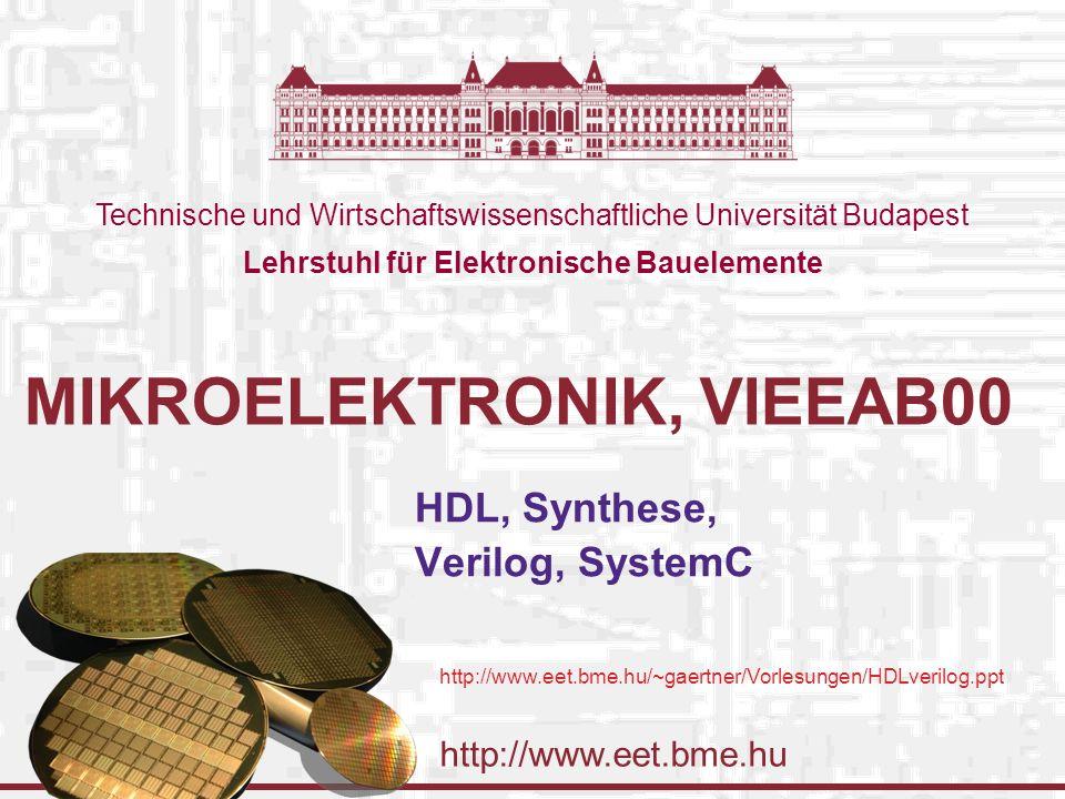Budapesti Műszaki és Gazdaságtudomanyi Egyetem Elektronikus Eszközök Tanszéke 25.02.2016.