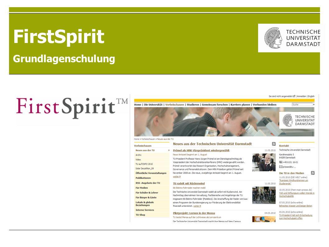 FirstSpirit Grundlagenschulung