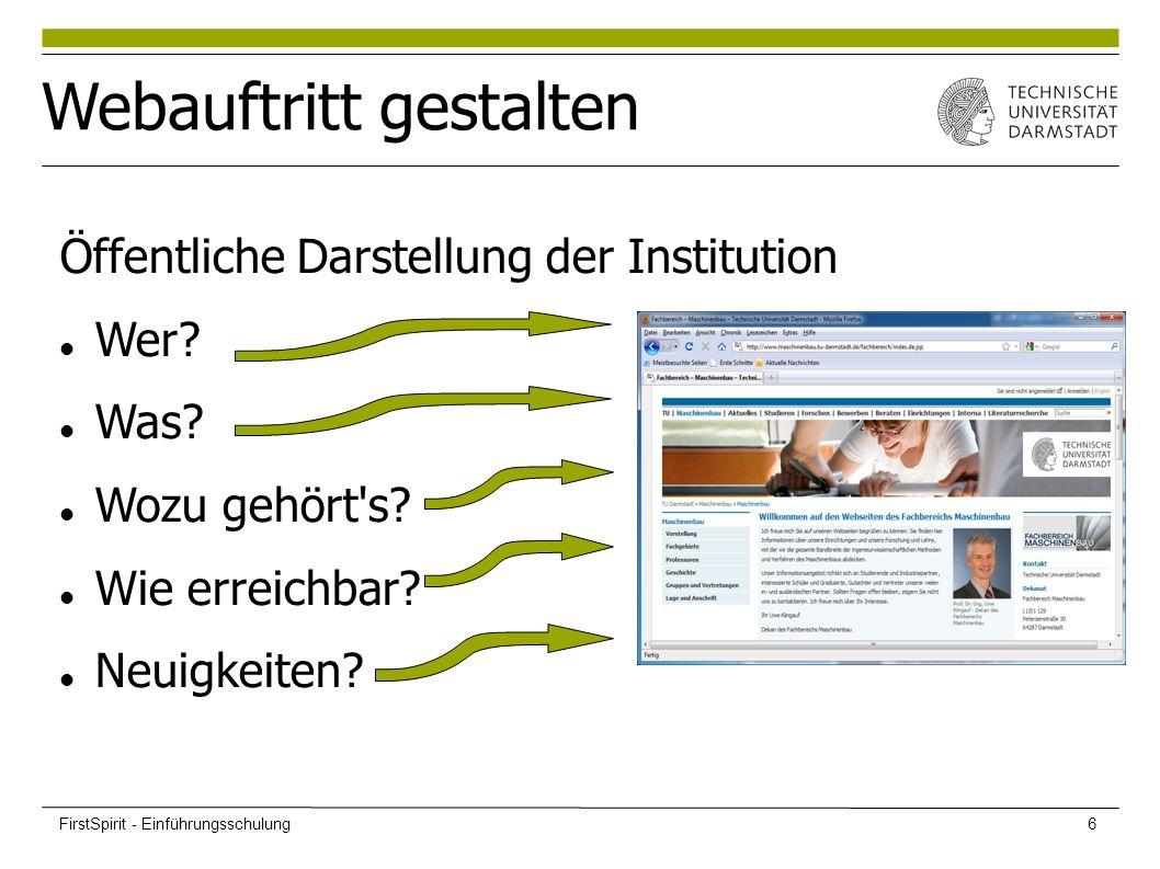 Öffentliche Darstellung der Institution Wer. Was.