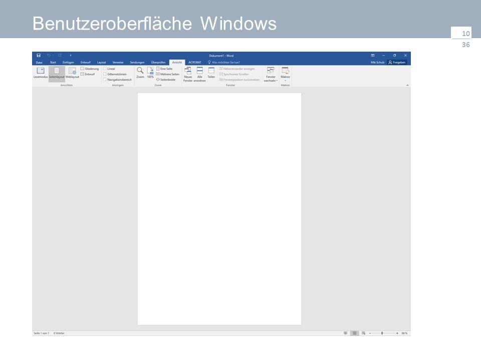 36 Benutzeroberfläche Windows 10