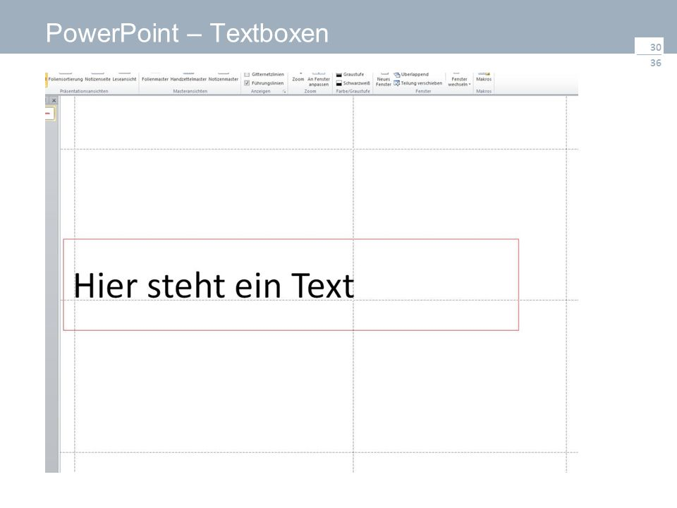 36 PowerPoint – Textboxen 30