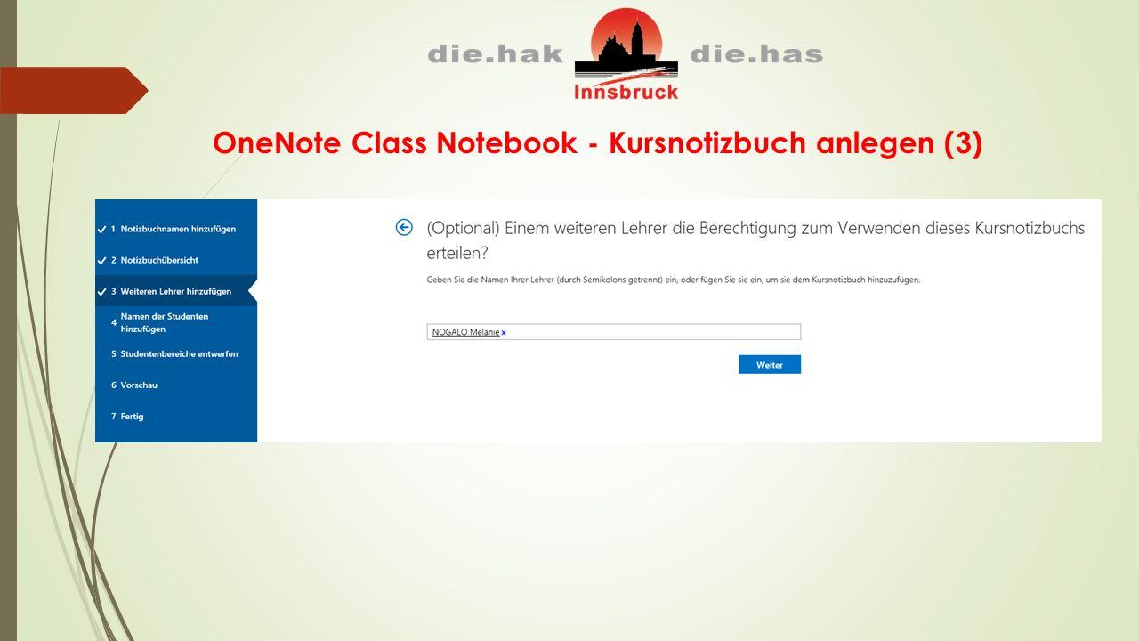 OneNote Class Notebook - Kursnotizbuch anlegen (3)