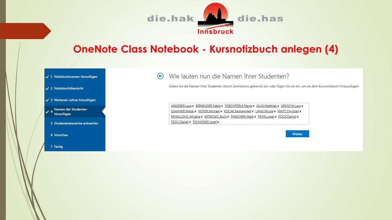 OneNote Class Notebook - Kursnotizbuch anlegen (4)