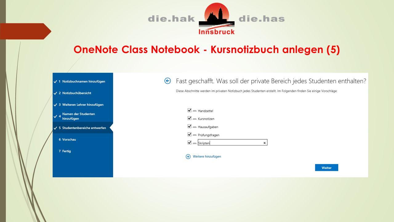 OneNote Class Notebook - Kursnotizbuch anlegen (5)