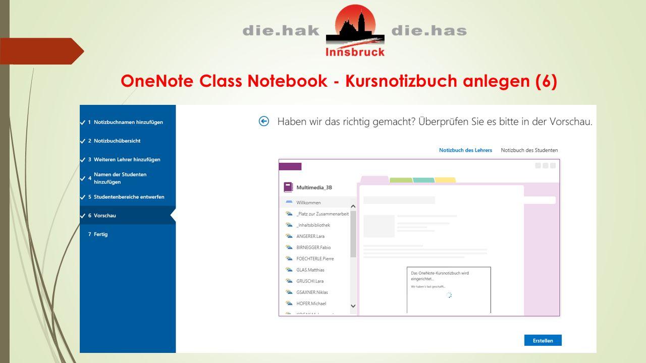 OneNote Class Notebook - Kursnotizbuch anlegen (6)