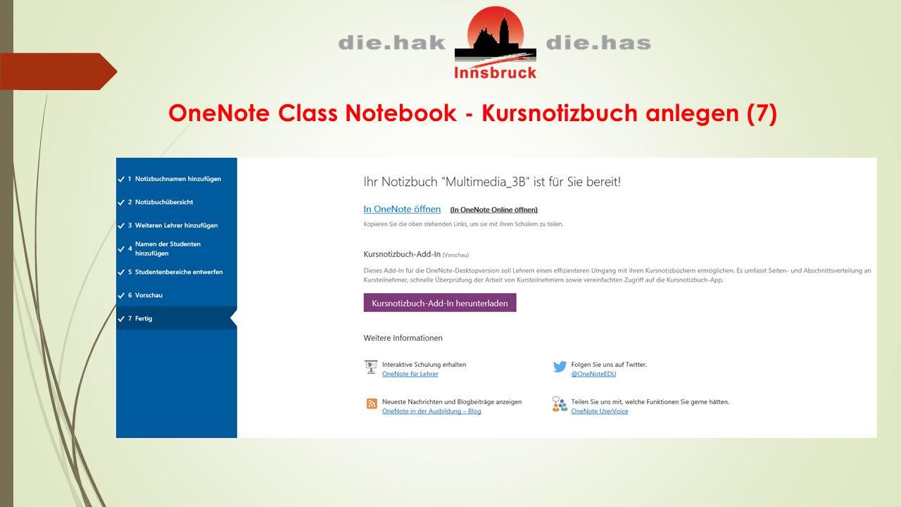 OneNote Class Notebook - Kursnotizbuch anlegen (7)