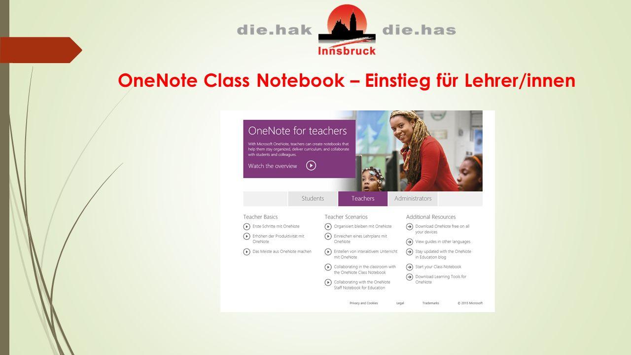 OneNote Class Notebook – Einstieg für Lehrer/innen