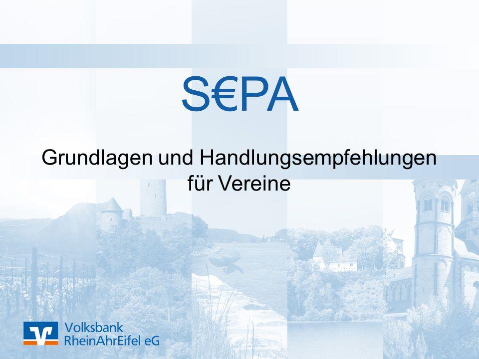 S€PA Grundlagen und Handlungsempfehlungen für Vereine