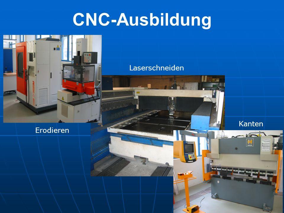 CNC-Ausbildung Erodieren Laserschneiden Kanten