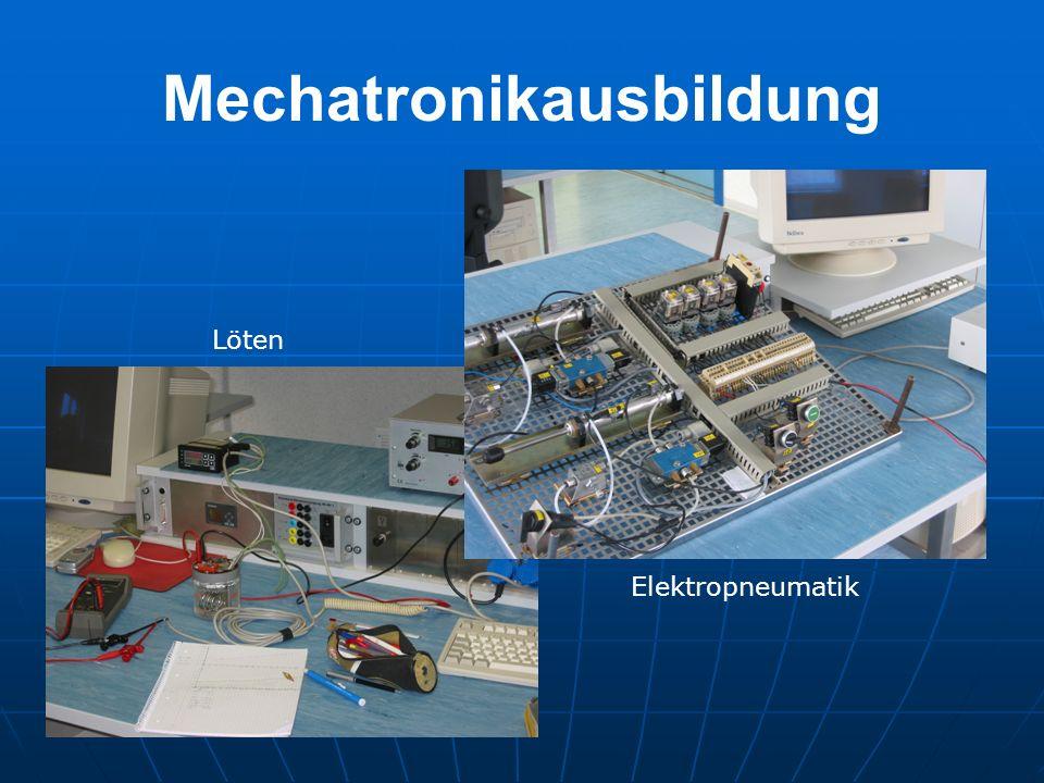 Mechatronikausbildung Löten Elektropneumatik