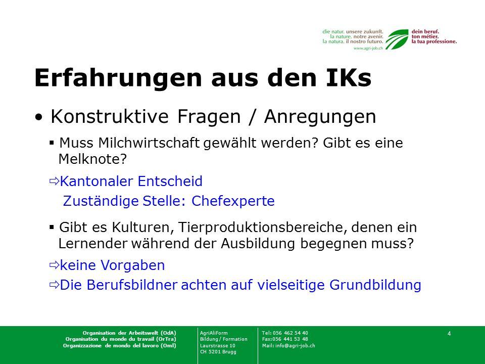 Organisation der Arbeitswelt (OdA)AgriAliFormTel: 056 462 54 40 Organisation du monde du travail (OrTra)Bildung / FormationFax:056 441 53 48 Organizza