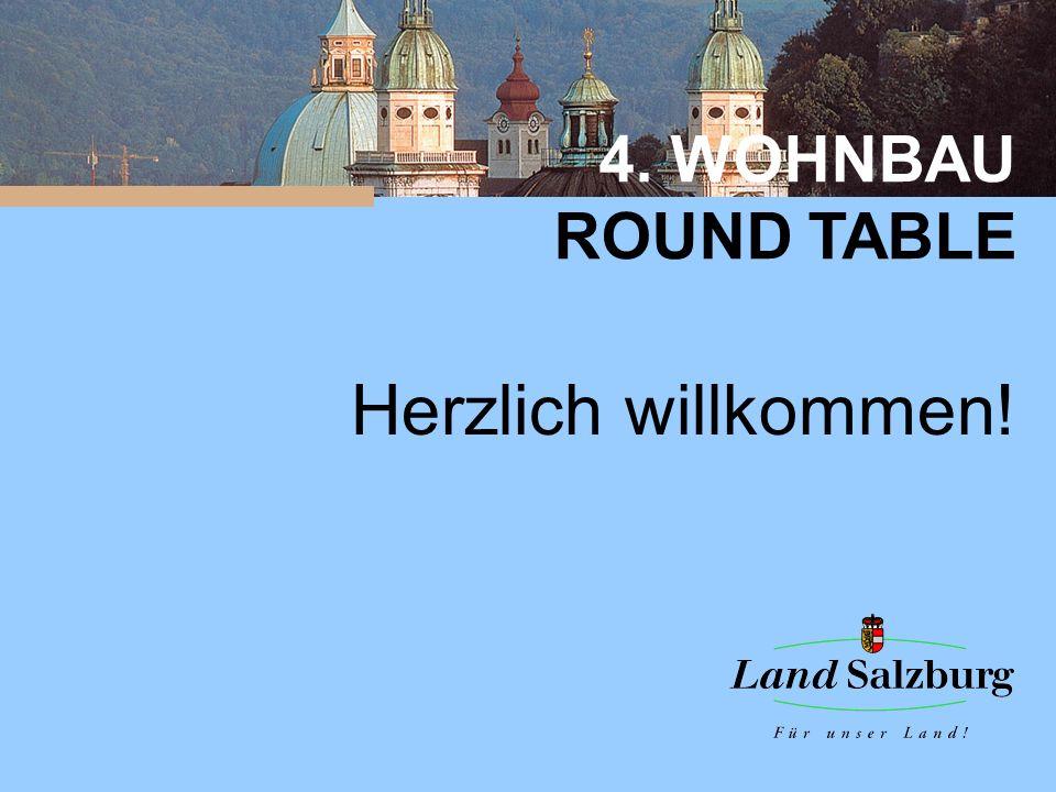 4.WOHNBAU ROUND TABLE 4. Wohnbau-Roundtable Zusammenfassung der Ergebnisse Salzburg, 8.