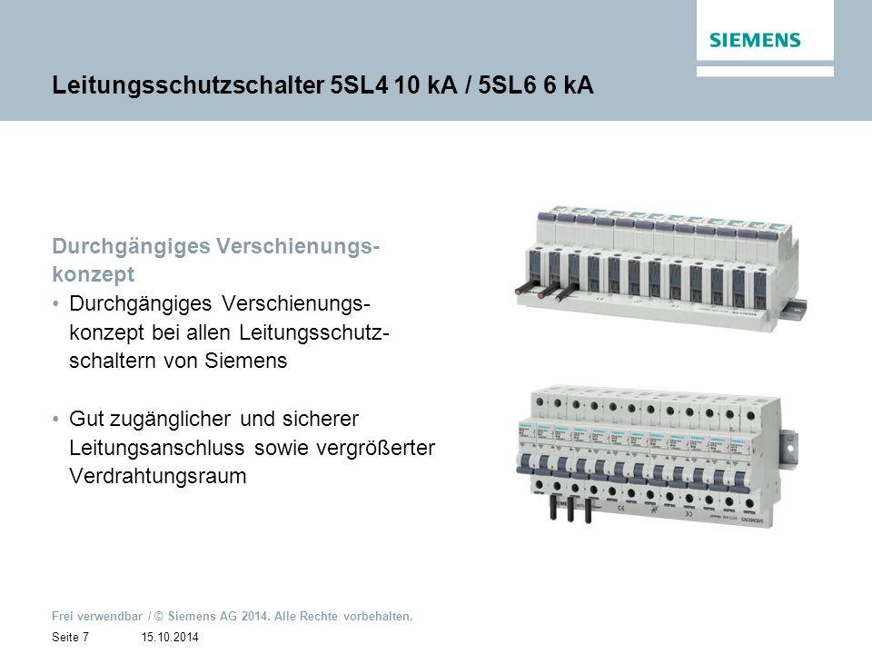 15.10.2014 Frei verwendbar / © Siemens AG 2014.Alle Rechte vorbehalten.
