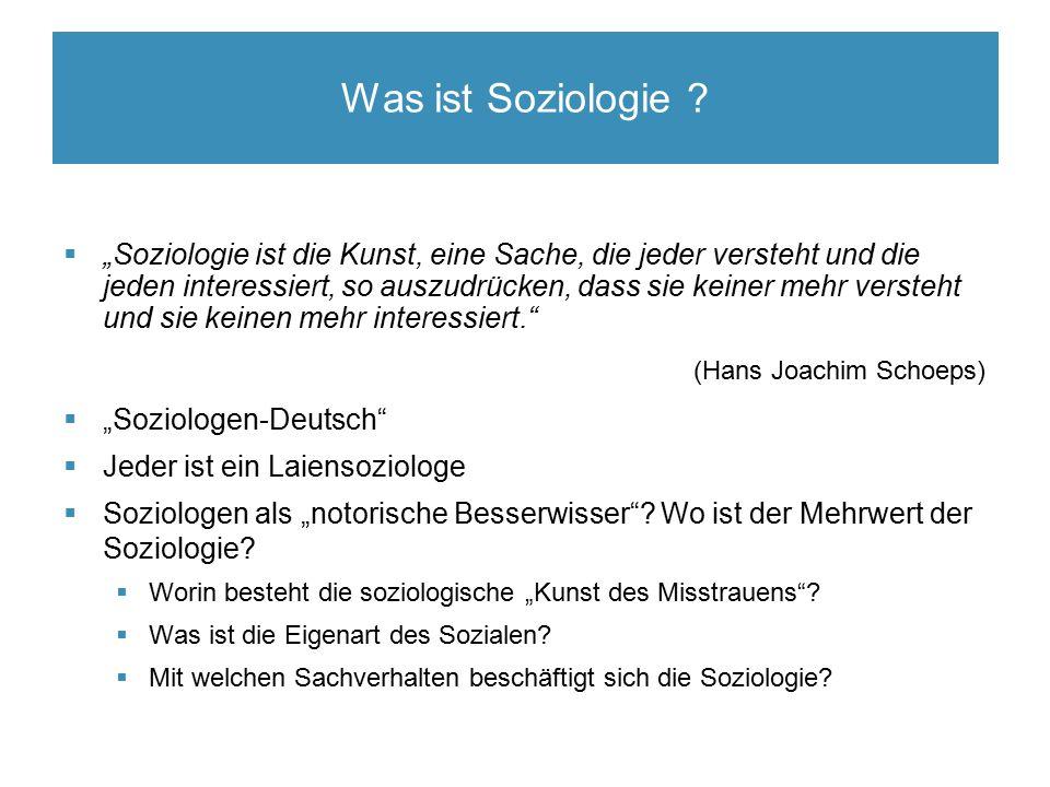 Was ist Soziologie .