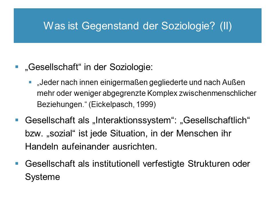 Was ist Gegenstand der Soziologie.
