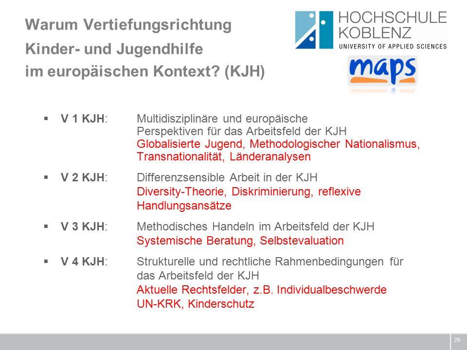 Warum Vertiefungsrichtung Kinder- und Jugendhilfe im europäischen Kontext.