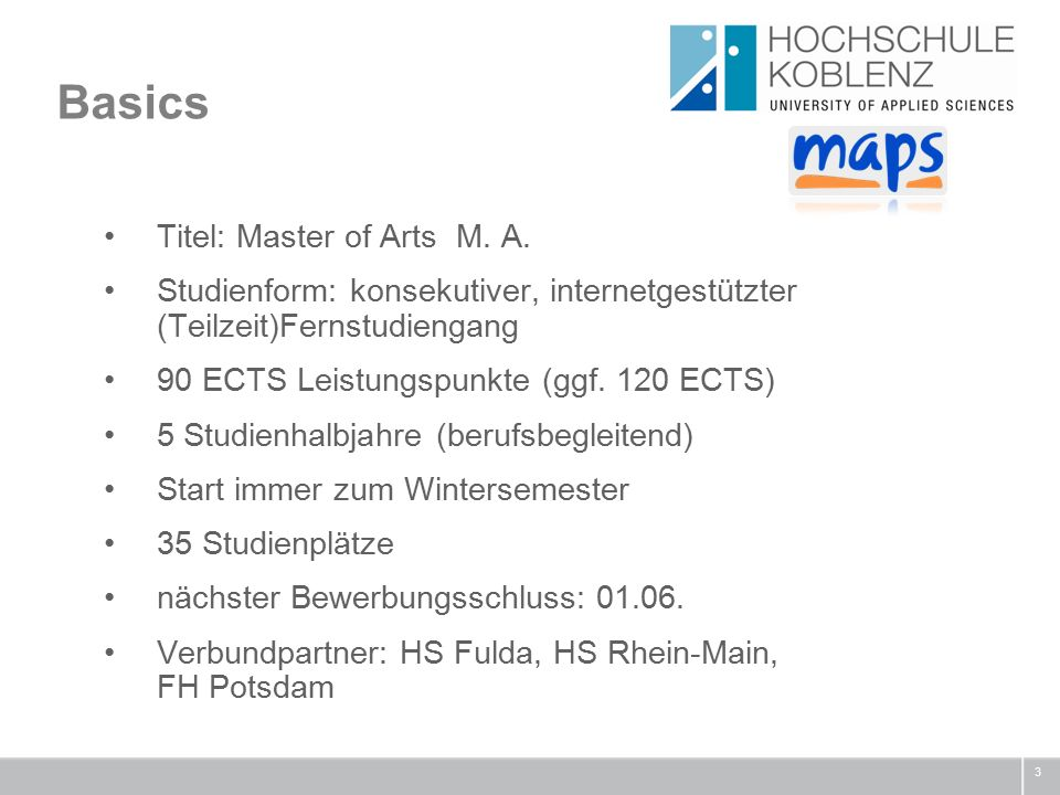 Basics 3 Titel: Master of Arts M.A.