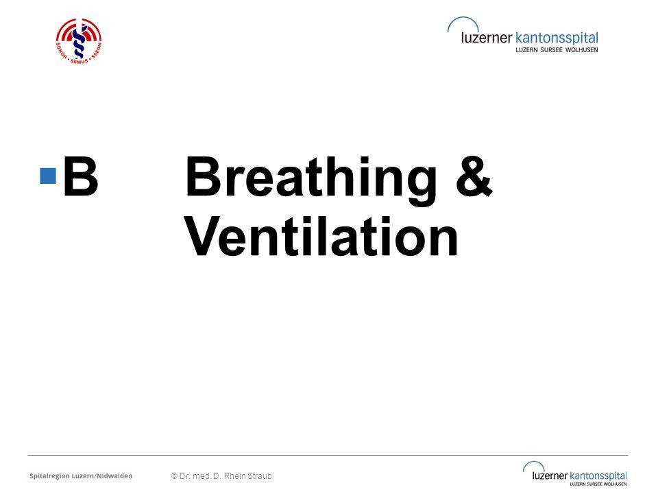  BBreathing & Ventilation © Dr. med. D. Rhein Straub