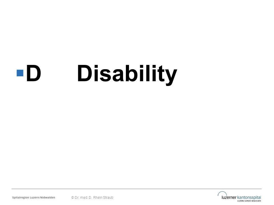  DDisability © Dr. med. D. Rhein Straub