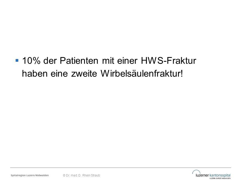  10% der Patienten mit einer HWS-Fraktur haben eine zweite Wirbelsäulenfraktur! © Dr. med. D. Rhein Straub