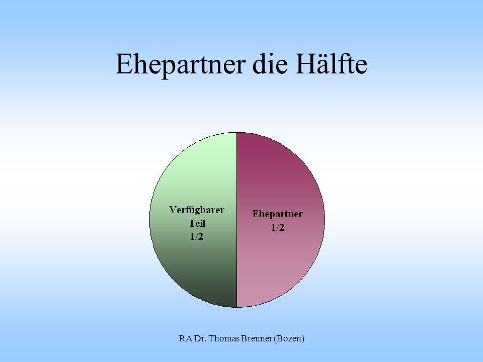 Ehepartner die Hälfte