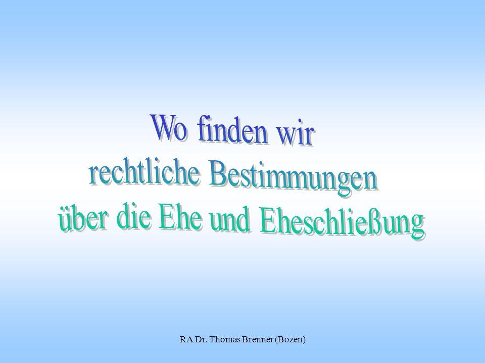 RA Dr. Thomas Brenner (Bozen)