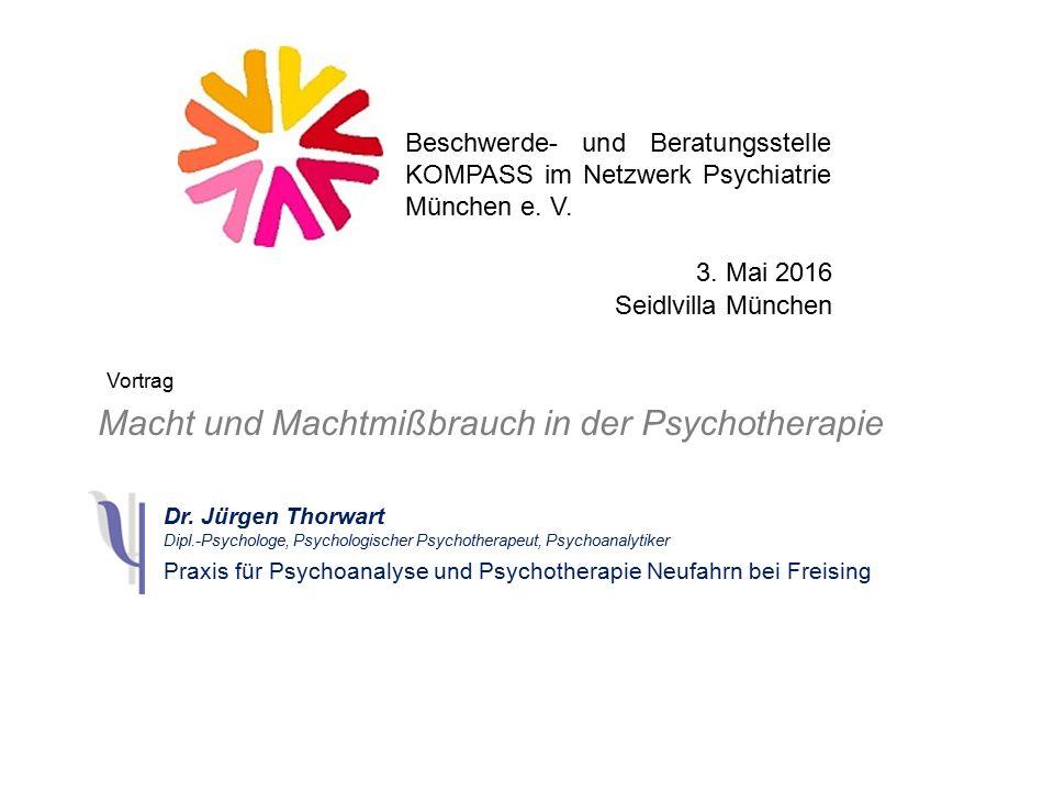 Macht und Machtmißbrauch in der Psychotherapie Dr.